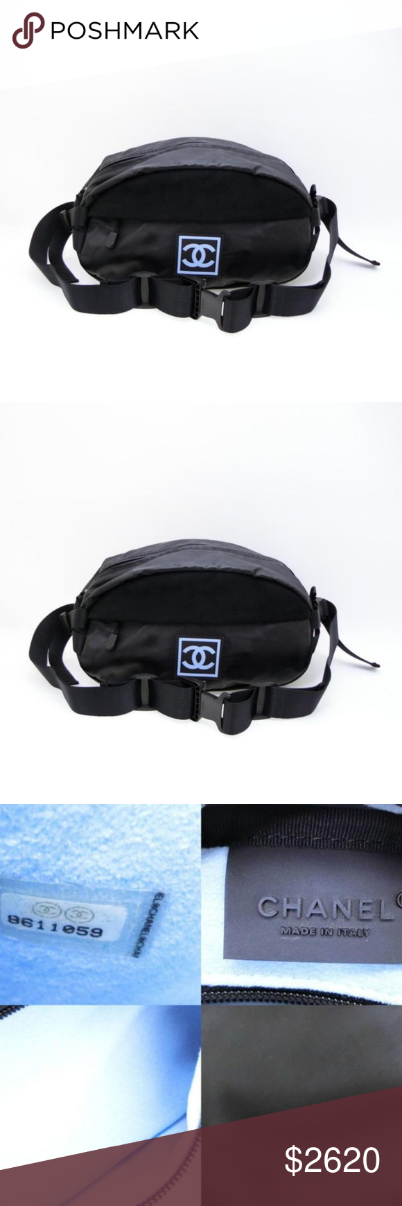 861c0a6fecc0 CC Sports Logo Bum Bag Fanny Pack 232647 OVERALL GOOD CONDITION ( 7/10 or