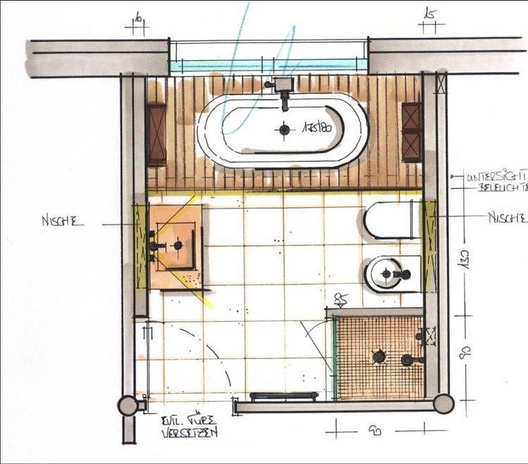 Badaufteilung grundriss badgrundriss bad badezimmer for Aufteilung badezimmer