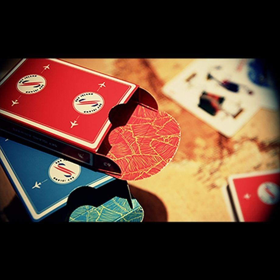 The Crown Deck from The Blue Crown Poker Spielkarten LIGHT BLUE