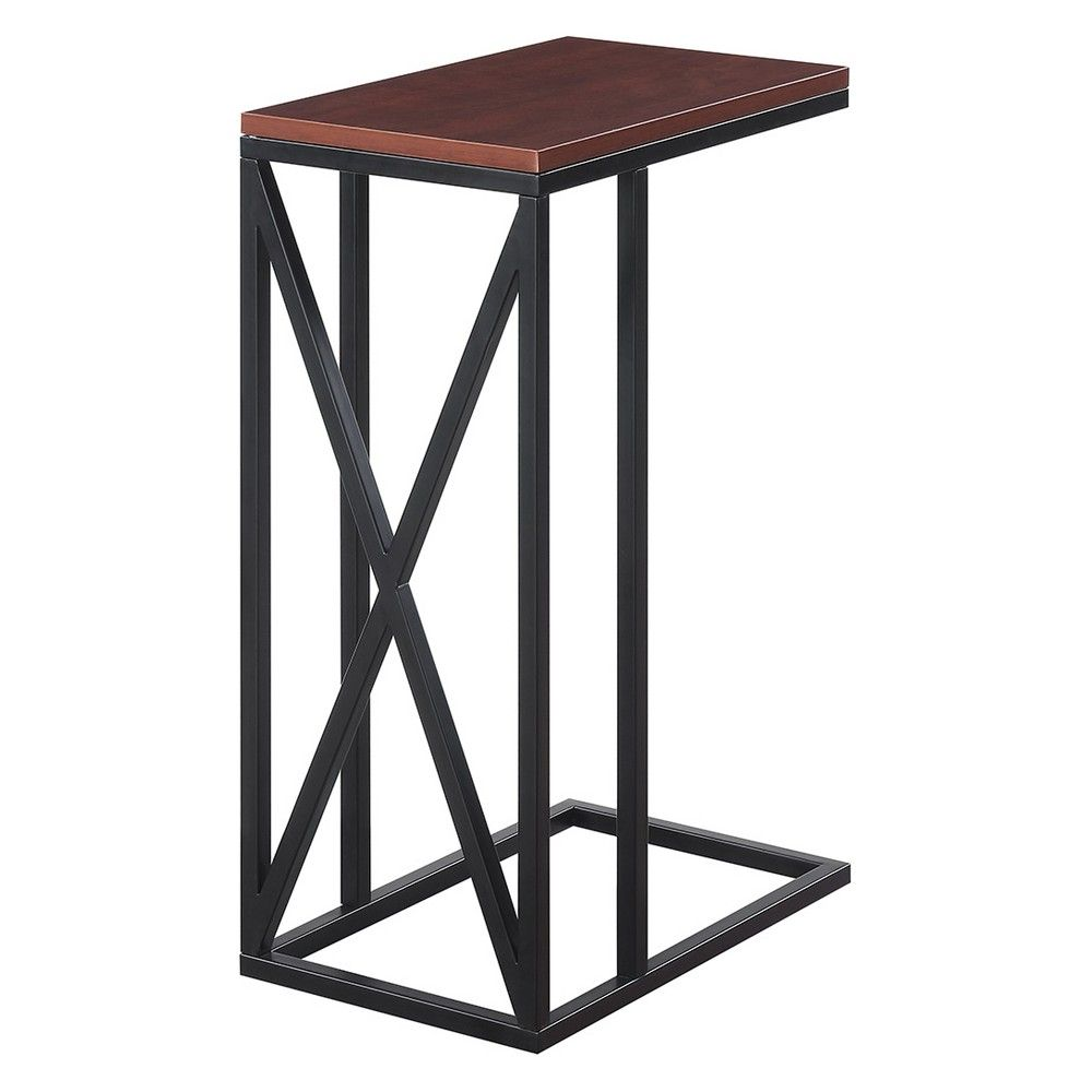 Johar furniture tucson c end table cherryblack redblack