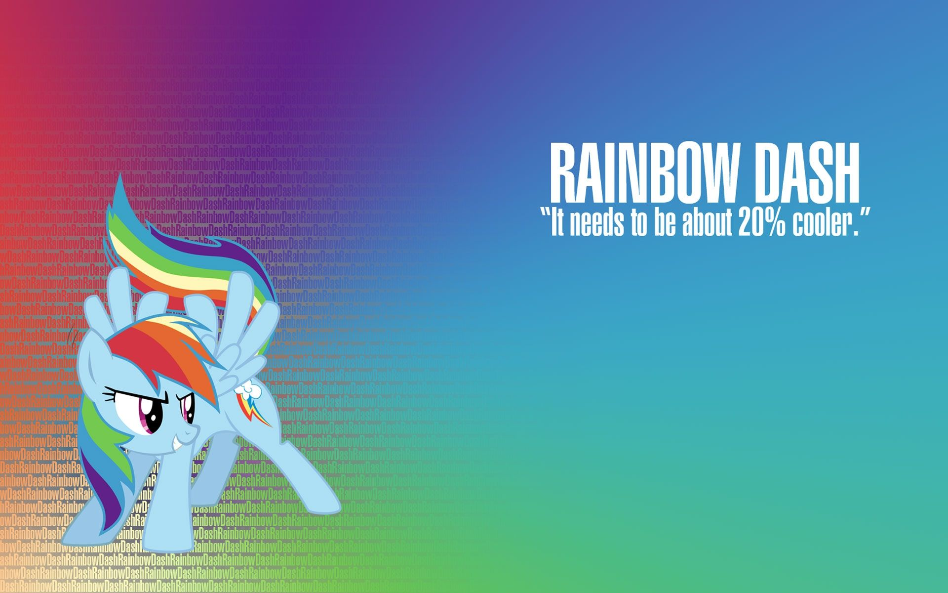 Rainbow Dash Wallpaper Pony Little Mural Wallpapers Static It Needs To Be About 20 Cooler