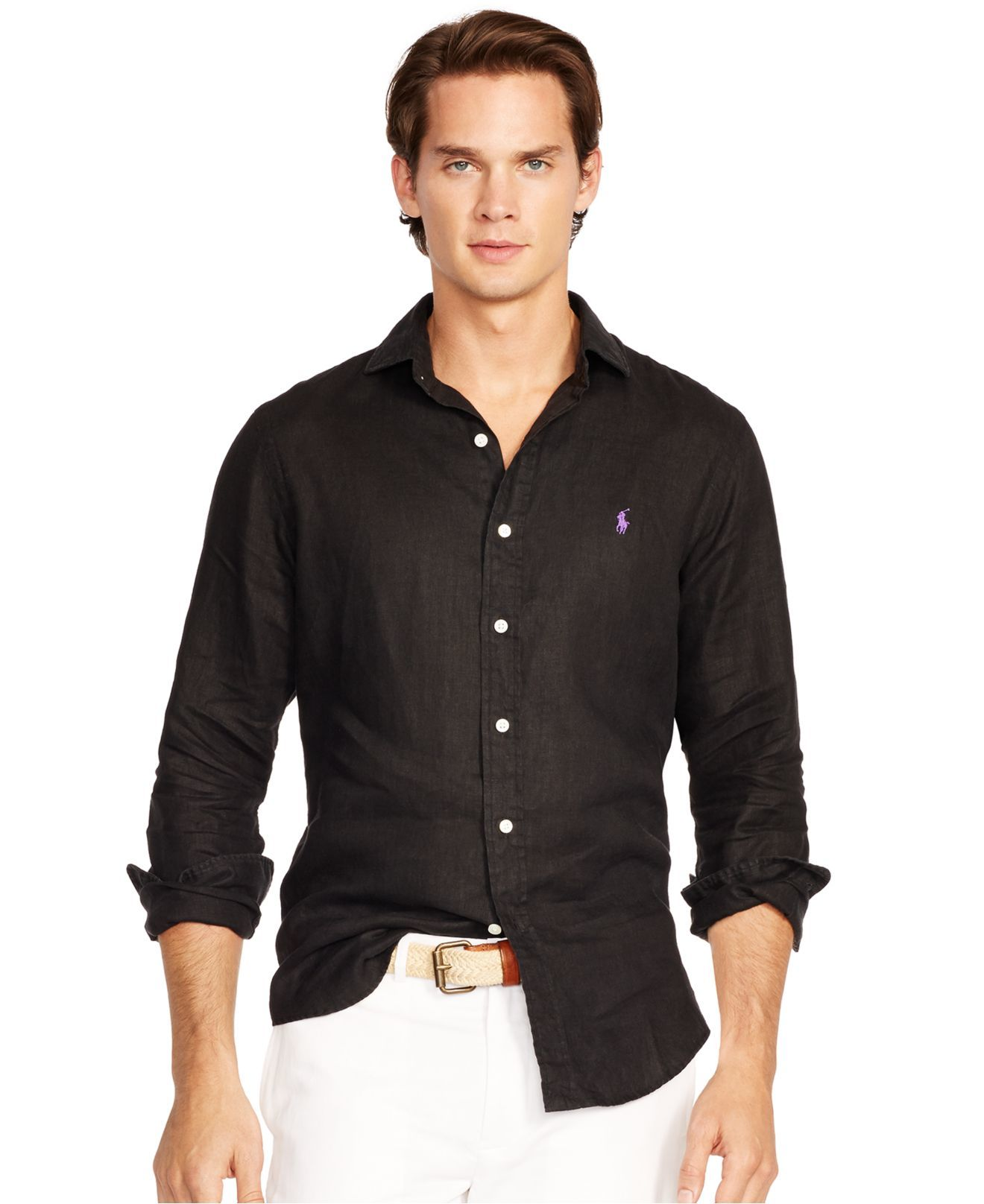 Alfani Big and Tall Lodi Striped Long Sleeve Shirt | MODELS MENS ...