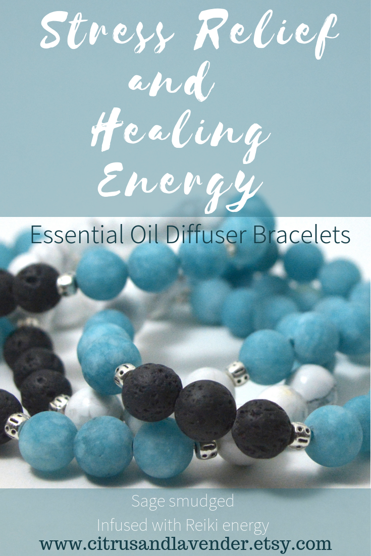 These Essential Oil Diffuser Bracelets Feature Blue Green Apae Jade With White Howlite And Black Lava Beads Volcanic Rock Is Porous