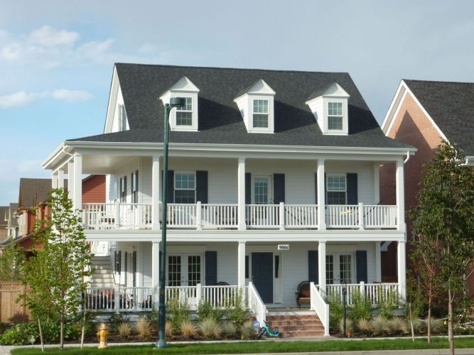 this 2 story wrap around porch veranda dream home