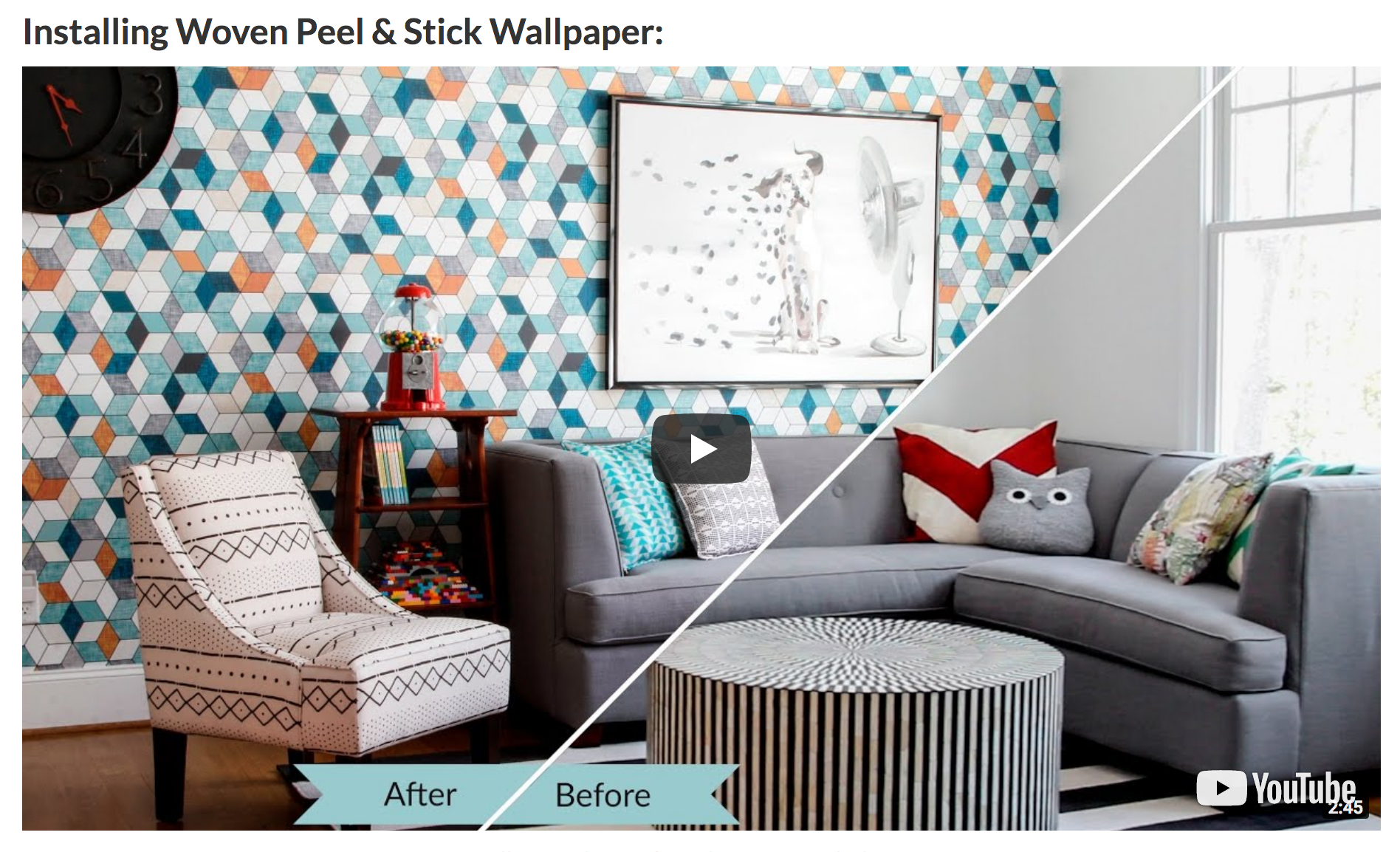 How to Install Woven Peel & Stick Wallpaper and Smooth