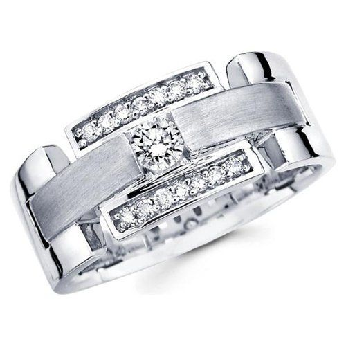Diamond Wedding Rings Men Masculine Beautiful Pictures Gold Silver Platinum