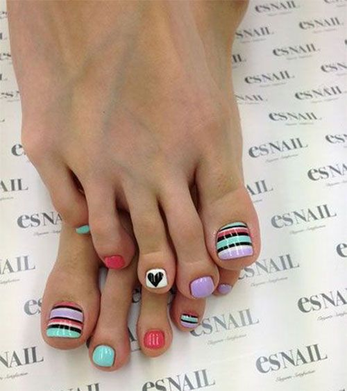 Valentines Day Toe Nail Art Designs Nails And Stuff Pinterest