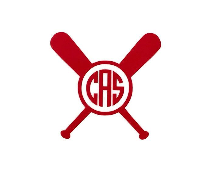 Whether you play softball or baseball this crossed bat monogram vinyl decal is perfect for you monogram information please enter your monogram exactly in