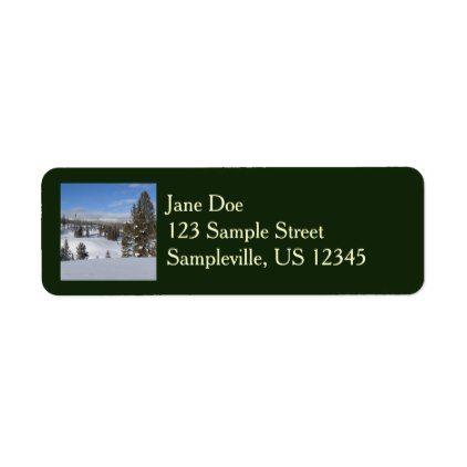 Yellowstone Winter Landscape Label Winter landscape - sample address label