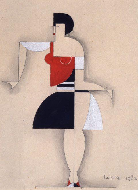 Drawing by T.C. Crali, Futurist designer, 1933