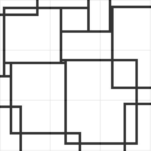 Mondrian tiling | Mondrian, Color studies, Color patterns