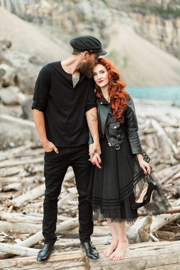This Couple's Edgy Glam Style Gave the Beauty at Moraine