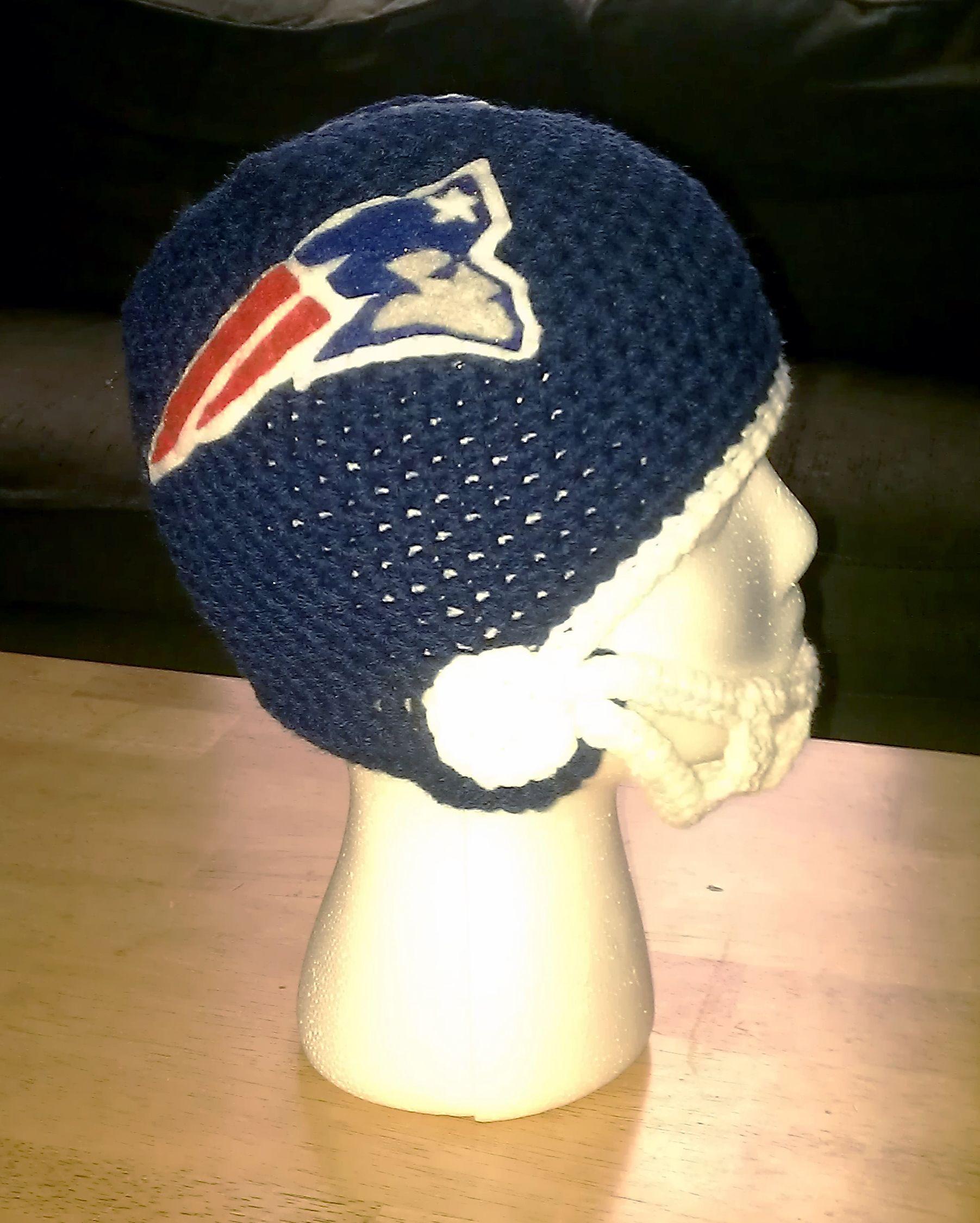 Custom New England Patriots football helmet   Crochet Hats   Pinterest