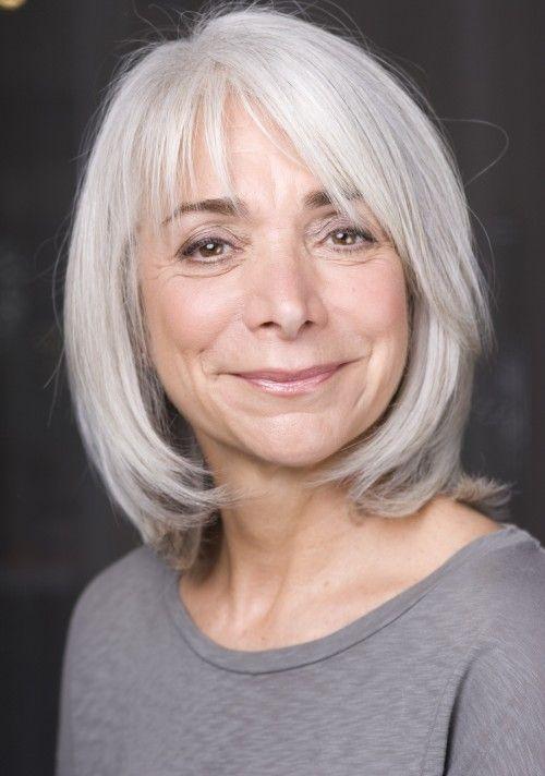 Gray Makeovers Via Eva Scrivo Straight Lace Front Wigs