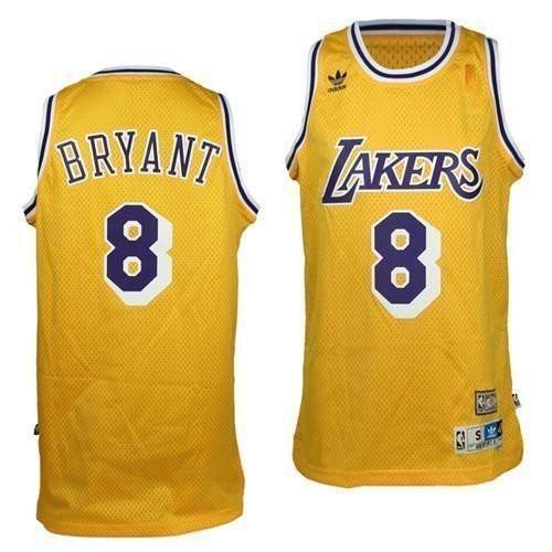 06a5a86e5a5 Mens Los Angeles Lakers Kobe Bryant 1996-1997 Adidas Gold Hardwood Classics  Swingman Jersey