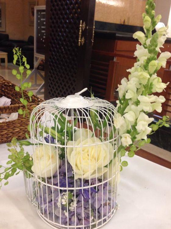 Jaula con flores despedida de soltera my work - Decoracion con jaulas ...