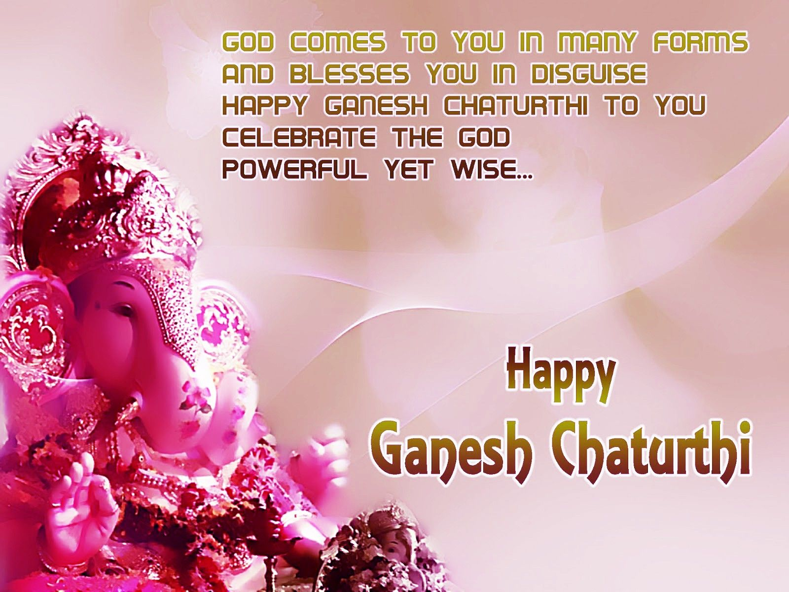 Wishing You Lot Of Happines And Lord Ganesha S Blessing On The Auspiciou Occasion Gane Good Morning Picture Quote Images Essay