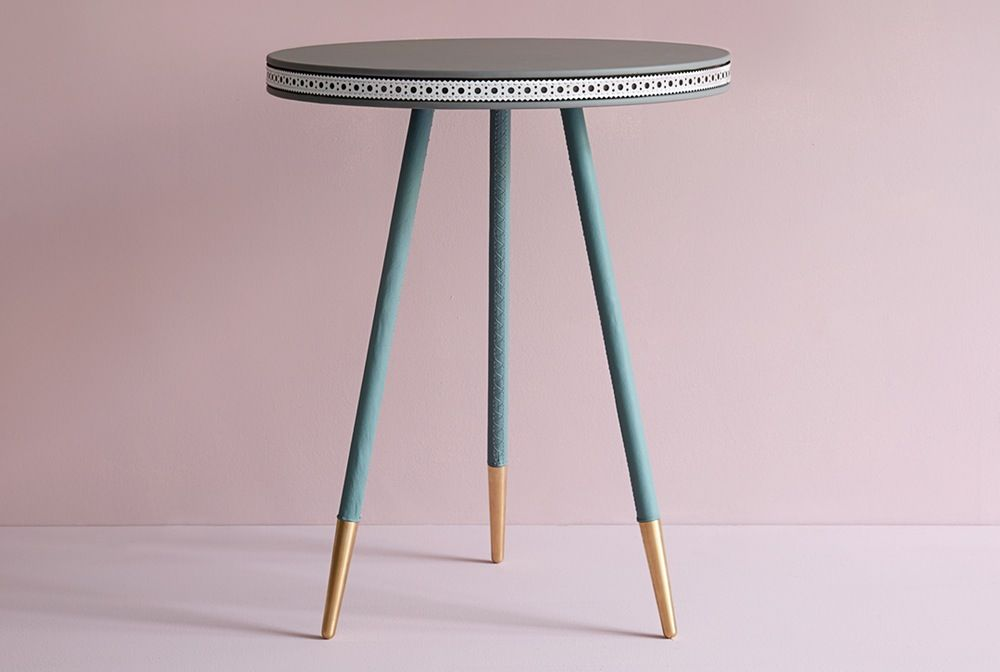 Image of Three Colour Brogue Side Table
