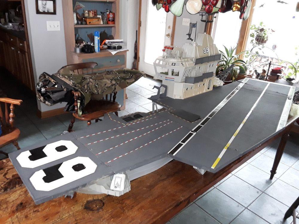 G.I 1985 ORIGINAL ARAH JOE USS FLAGG DECK CLIP