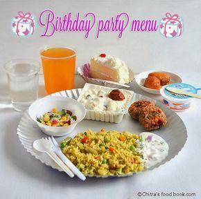 Simple Birthday Party Recipes Menu For Kids Birthday Pinterest