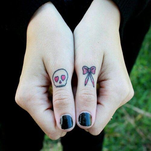 Cute knuckle tattoo