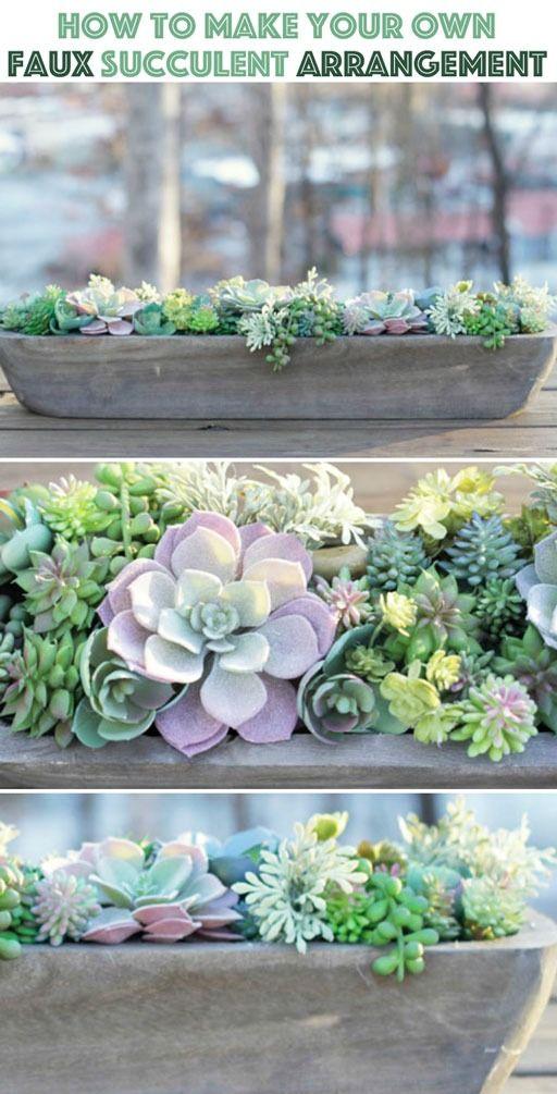 How To Make The Perfect Diy Artificial Succulent Arrangement