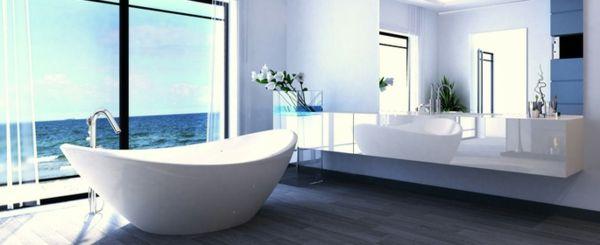 Designer Badezimmer In Weiß Blau