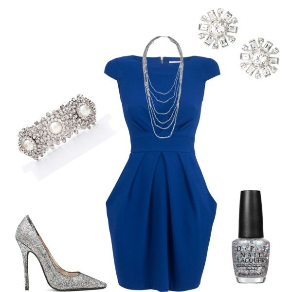 """""""Blue and Silver Snow Women's Holiday Outfit"""" by jessicaschmidt on Polyvore"""