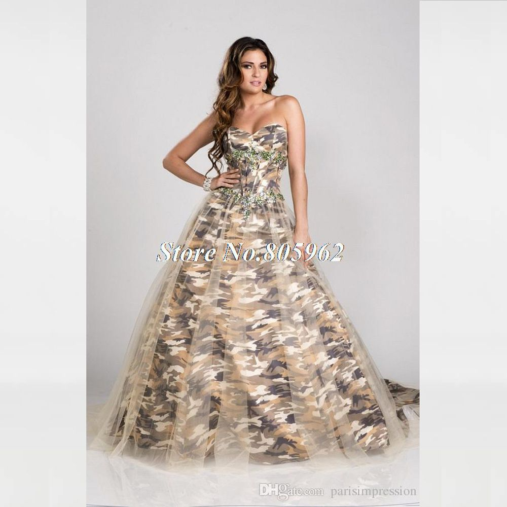 China dresscamo dress sweetheart long dress long dress for directly from china dress arabic suppliers strapless millitary ball gown camo long prom dresses 2015 new style real photo custom make size 0 or plus s ombrellifo Image collections