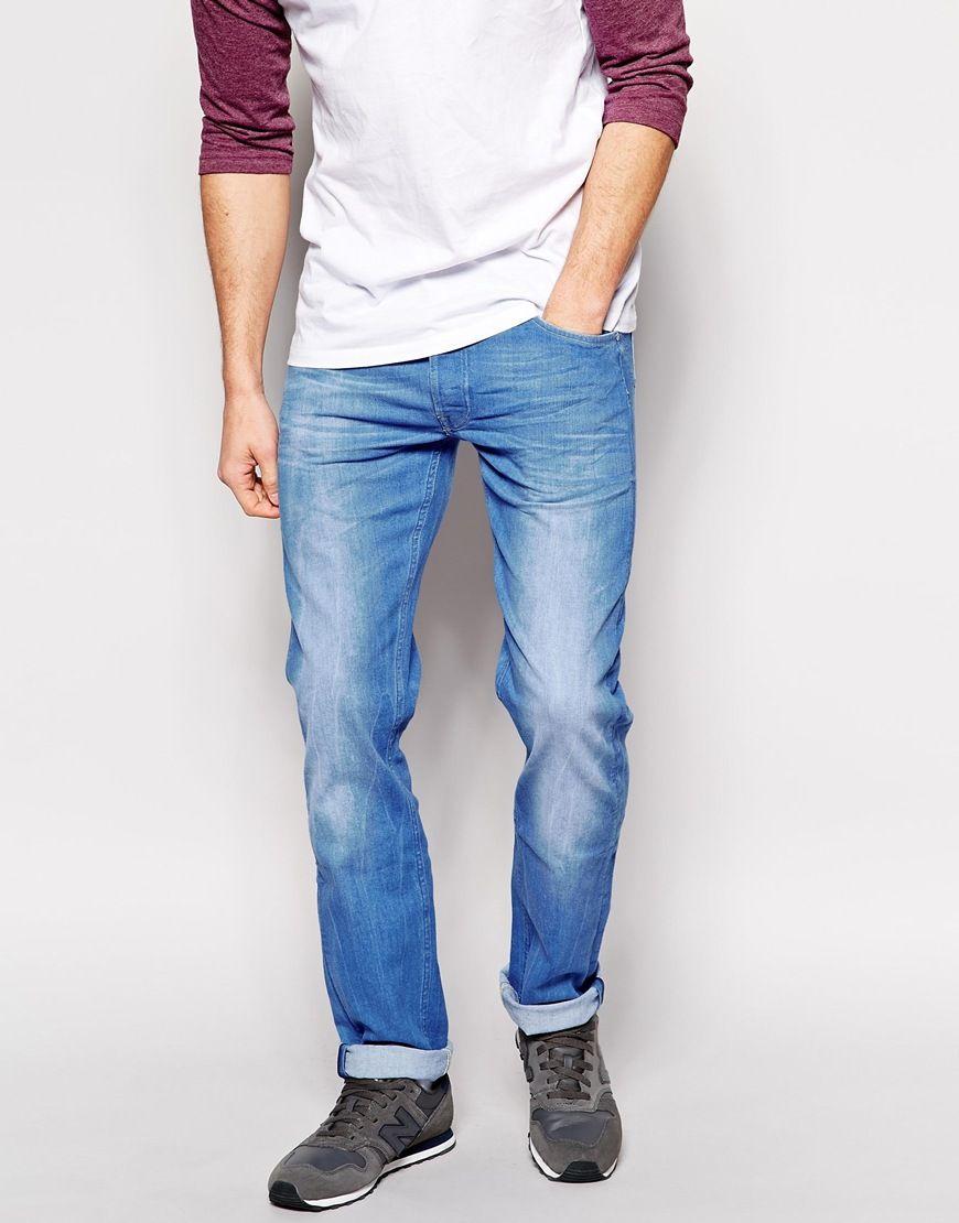 6a34f346 Enlarge Lee Jeans Daren Regular Slim Fit Bright Dye Mid Wash   Boys ...