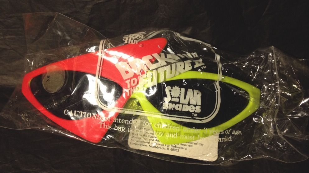 Back to the Future II 2 - 1989 PINK & YELLOW SOLAR SHADES From PIZZA HUT