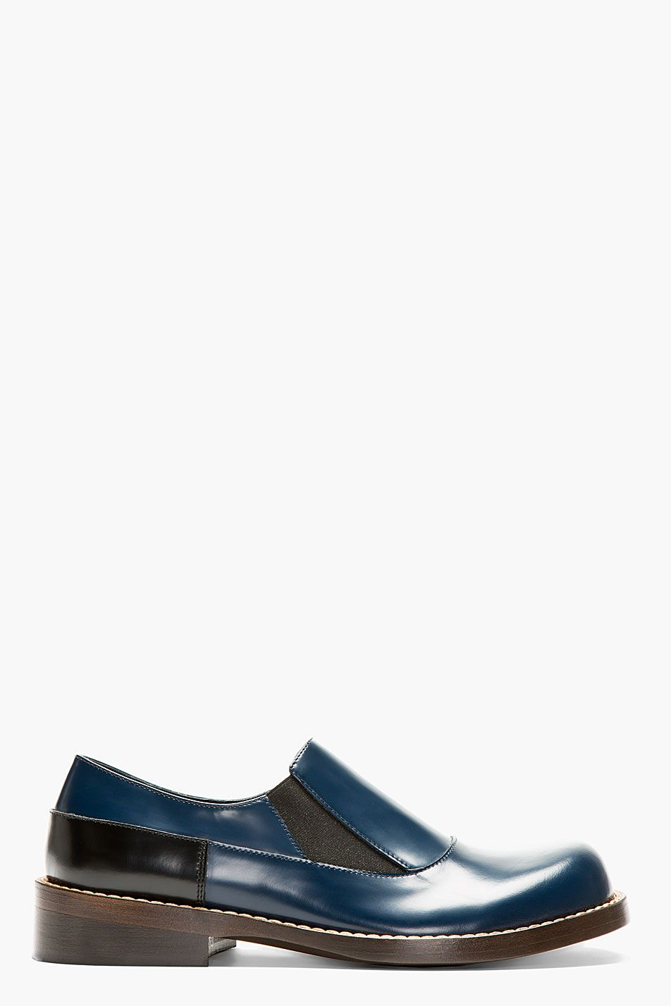 MARNI Blue Leather Loafers