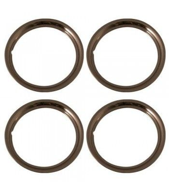 Set Of 4 Stainless Steel 15 Inch Beauty Trim Rings With Metal Clip Retention System Part Number Iwc1515s Trim Ring Close Up Filter Dslr Lens