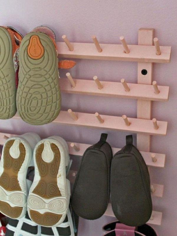 Ideen Für Schuhaufbewahrung schuhe leicht aufbewahren kleines regalsystem selbermachen 35