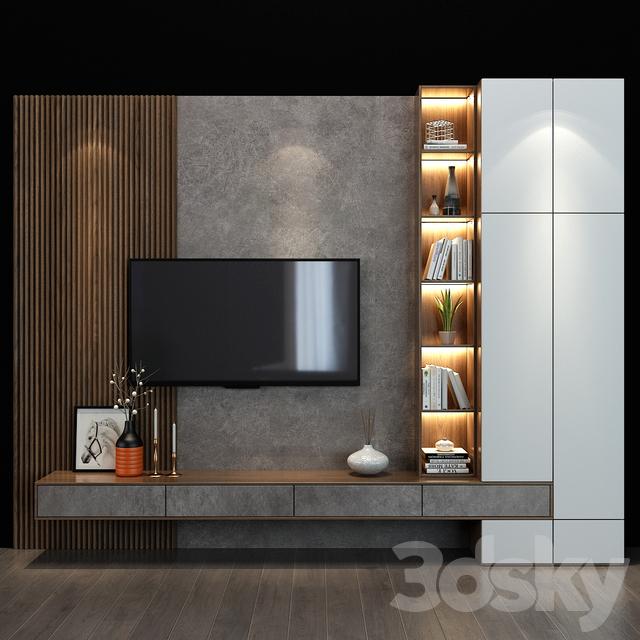 3d Models Tv Wall Tv Shelf 30 Living Room Tv Unit Designs Living Room Decor Apartment Living Room Design Modern