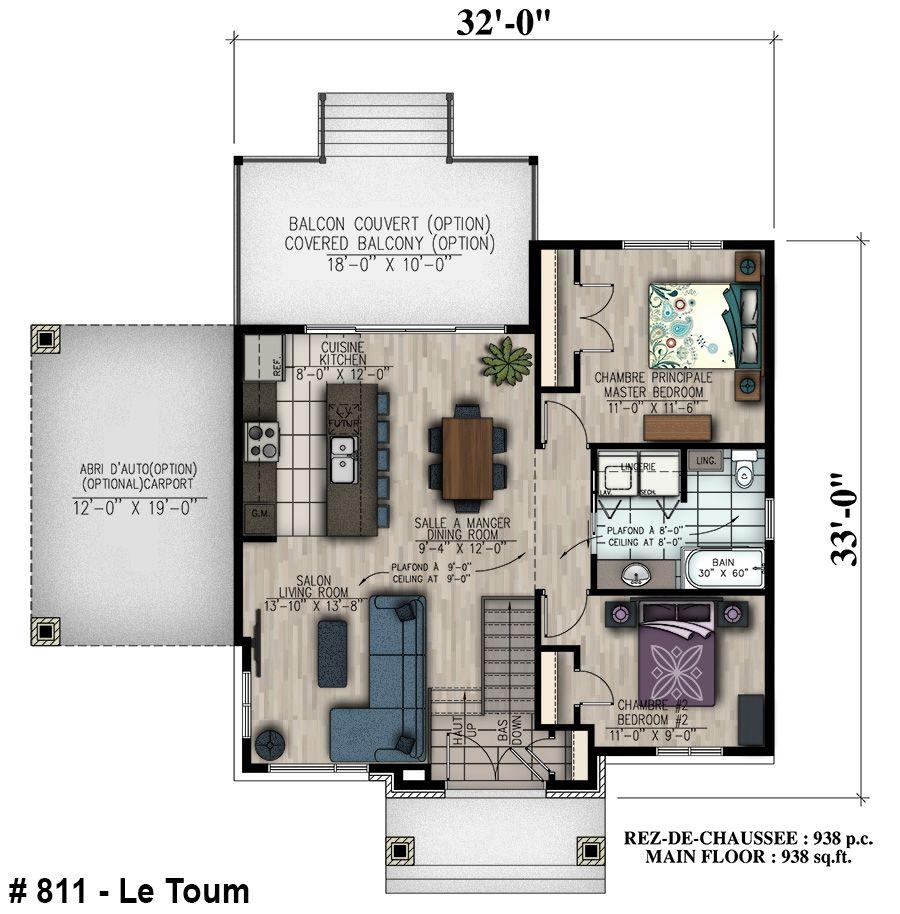 811 le toum bungalow mobilit r duite handicap plain for Plan de maison pour handicape