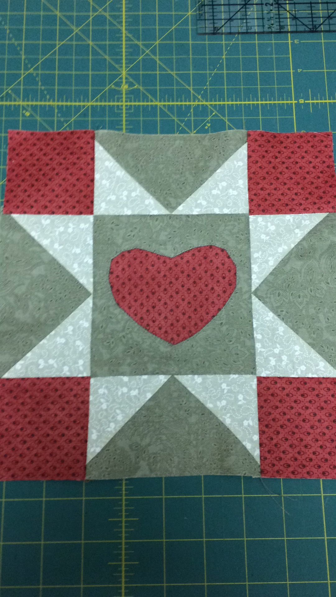 """Yankee Diary Block#7 """"Valentine for Noah Clarke's Brother""""."""