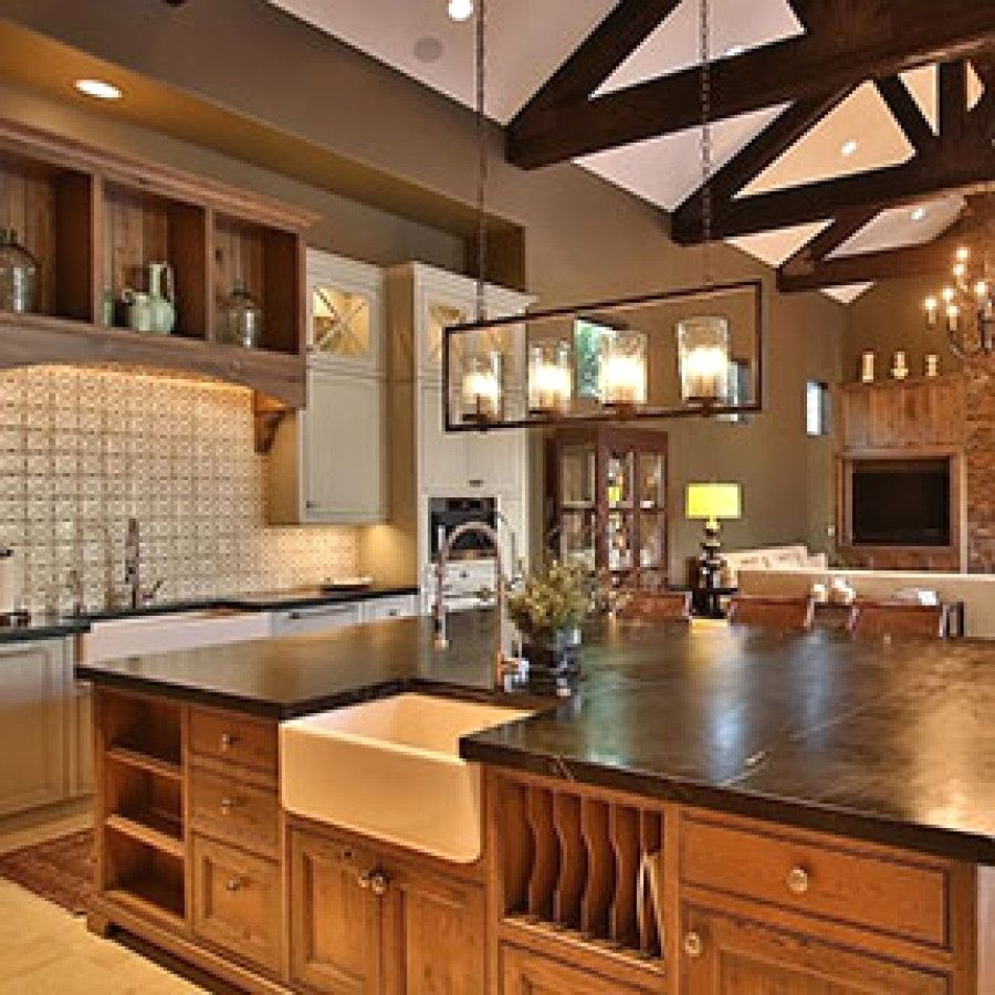 Beautiful Rustic Style Light Designs To Accent The Kitchen ...