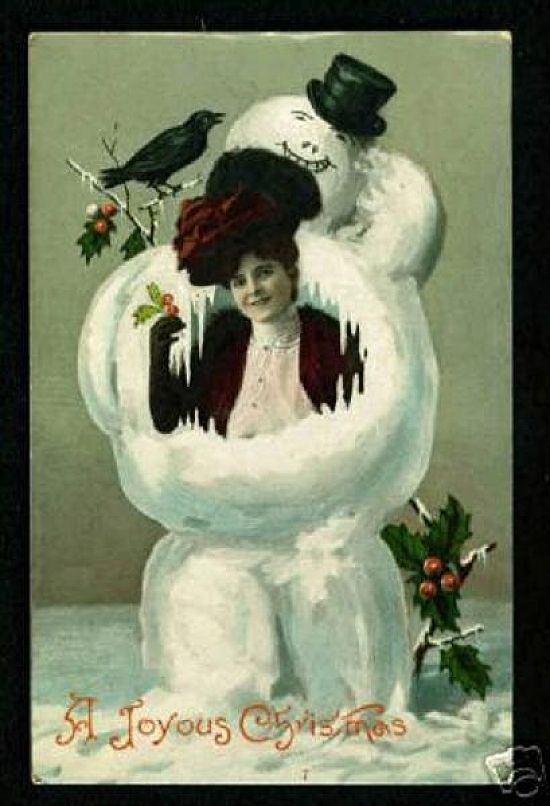 they're a ll here Weird Vintage Christmas Cards Posted by sonia ...