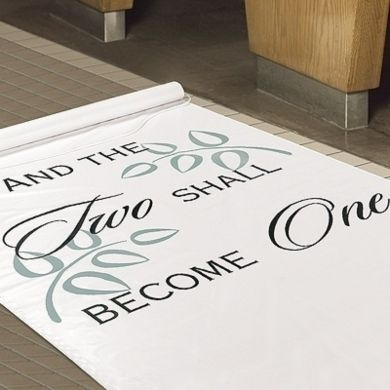 """Two Shall Become One"""" Aisle Runner - Wedding Decor by Wedding Invitations by Dawn - Loverly"""