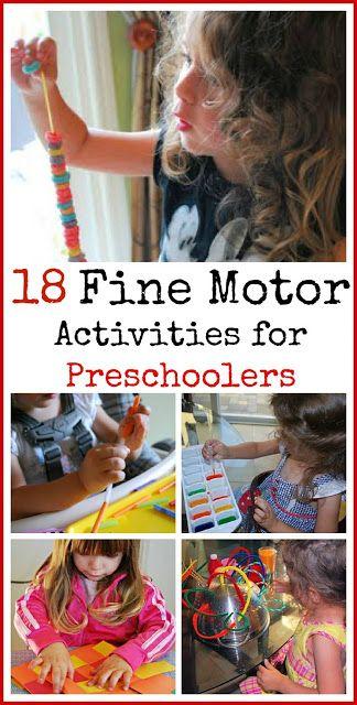 18 Fine Motor Activities For Preschoolers Preschool Activities Preschool Fine Motor Motor Skills Activities