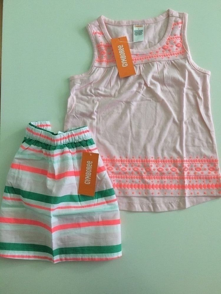 NWT Gymboree PARISIAN AFTERNOON Girls Size 7 or 8 Skirt /& Tank Top Shirt OUTFIT
