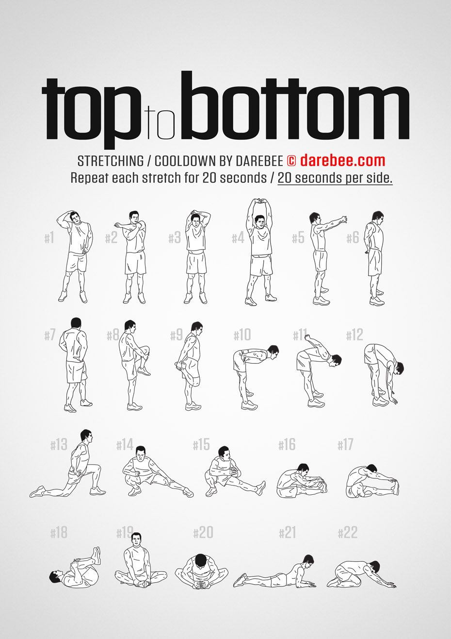 Top to Bottom Workout - Cool Down #cardioyoga