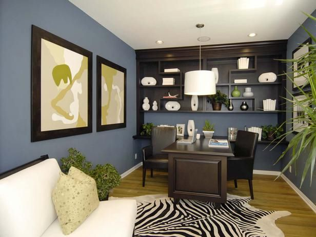 enchanting home office wall colors blue | Pin by Ngetrip Yuk! on Rumah Minimalis | Home office ...