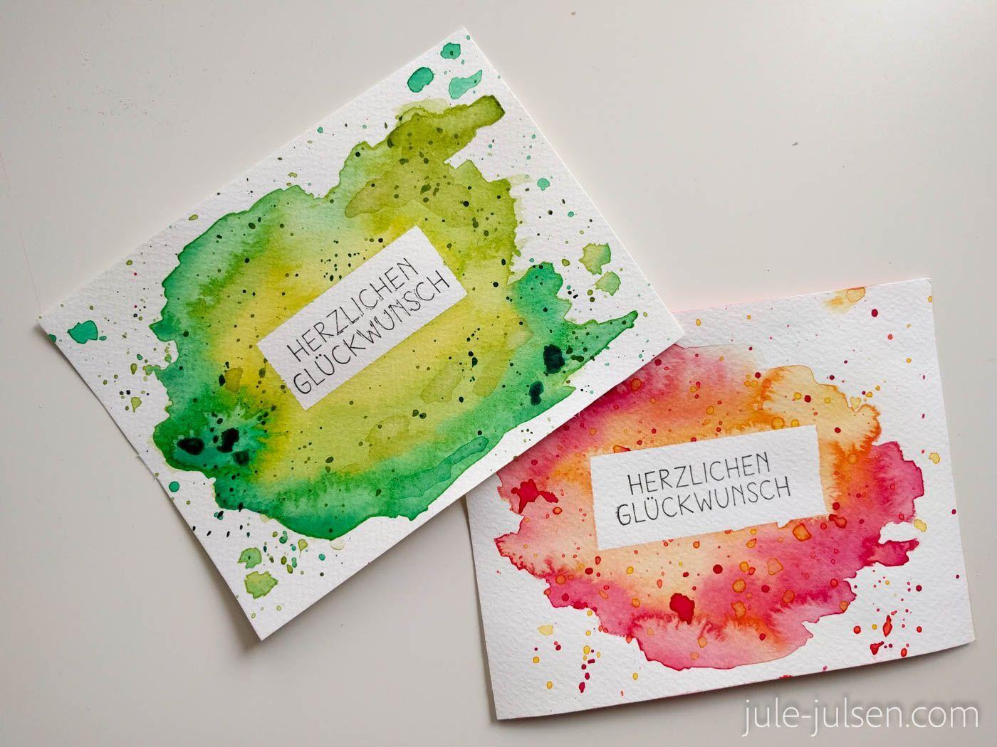 Simple Diy Watercolor Birthday Cards Diy Watercolor Birthday