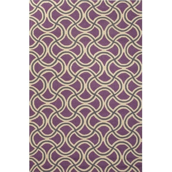 Jaipur Rugs Barcelona Barbells 2 X 3 Indoor/Outdoor Rug - Purple/Taupe ($63) ❤ liked on Polyvore featuring home, rugs, polypropylene rugs, outdoor patio rugs, polypropylene outdoor rugs, indoor outdoor area rugs and outdoor area rugs