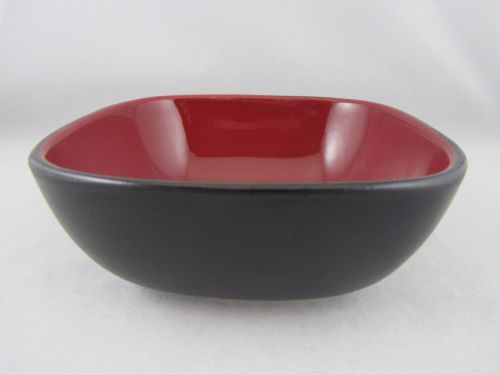 Corelle Hearthstone Chili Red Pattern Stoneware Square Soup Bowl ...