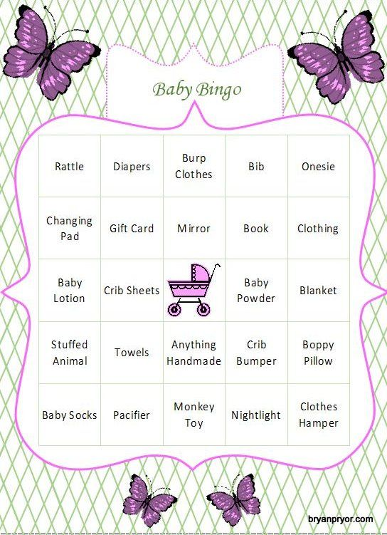 Diy Baby Shower Bingo Generator  This Site Has A Free Excel