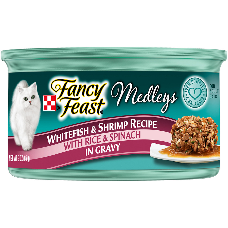 Fancy Feast Elegant Medleys Tastemakers Whitefish & Shrimp