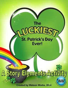 ONLY $0.75!  Check out our new product! This story elements activity accompanies the book The Luckiest St. Patrick's Day Ever! by Teddy Slater, and it covers genre, characters, setting, point-of-view, and author's purpose. It offers a fun, educational activity to do on St. Patrick's Day or during the week of St. Patrick's Day. We hope you enjoy!!
